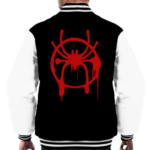 Spider Man Into The Spiderverse Spray Paint Men's Varsity Jacket