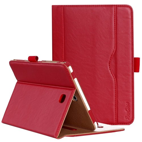 ProCase Samsung Galaxy Tab S2 8.0 Case - Leather Stand Folio Case Cover for 2015 Galaxy Tab S2 Tablet (8.0 inch, SM-T710 T715 T713) -Red