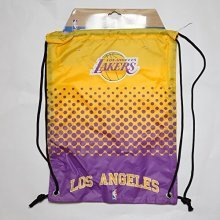 Forever Collectibles Los Angeles Lakers Fade Nba Drawstring Backpack -  gym bag drawstring nba basketball american football fan sport official