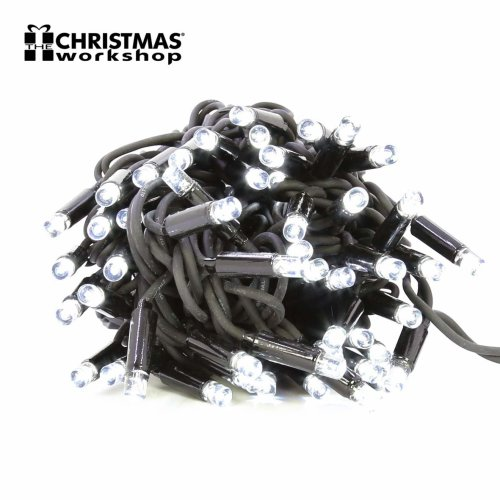 The Christmas Workshop 100 LED Connectable String Lights, Bright White