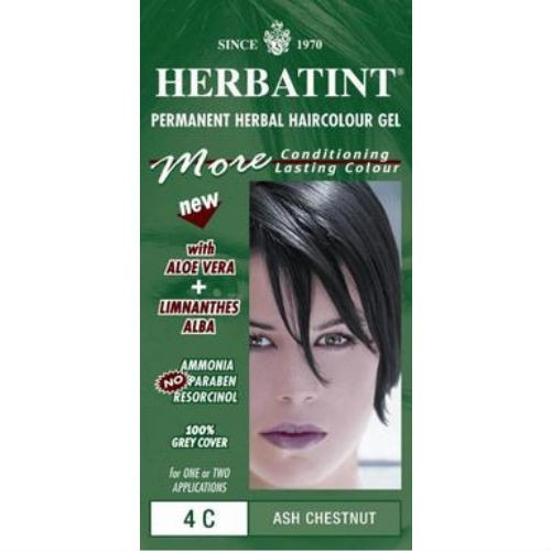 Herbatint Ash Chestnut Ammonia Free Hair Colour 4c 150ml