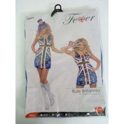 Medium Ladies Sexy Britannia Costume -  costume britannia dress fever all glitters rule fancy smiffys women ladies union jack medium 1214