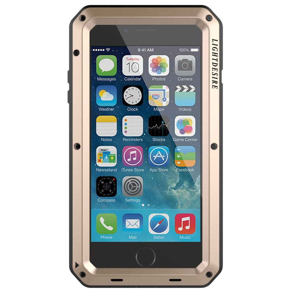 sale retailer 4ea00 881f3 iPhone 8 Plus Case, LIGHTDESIRE Shockproof Anti-Skid Water Resistant Metal  Aluminum Alloy Military Bumper Shell Cover Case for iPhone 7 Plus 8 Plus...