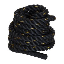 Homcom 12m Battle Rope Workout Training Equipment Strength Cardio Polyester Black
