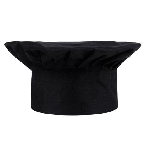 Fashion Resturant Kitchen Cook Hats Mushroom Cake Chef Hats-Black