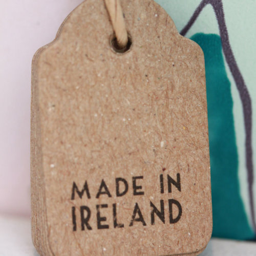 East of India Vintage Style 'Made In Ireland' Brown Mini Tags x 10