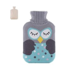 Christmas version Classic Hot water Bottle Transparent Rubber Cartoon Warm Bag Water spray #12