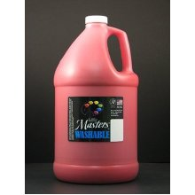 Handy Art Little Masters Washable Tempera Paint Gallon, Red