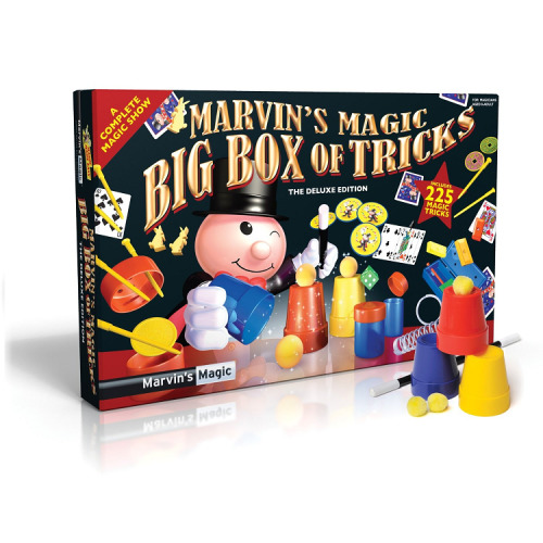 Marvin's Magic Big Box of Tricks, 225 Deluxe Edition, Childrens Magic Set