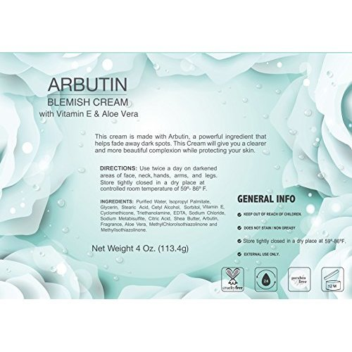 Lawrens Cosmetics Arbutin Cream Blemish control 4 oz