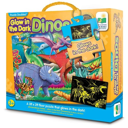 Learning Journey The 787533 Doubles Glow in The Dark Dino Puzzle