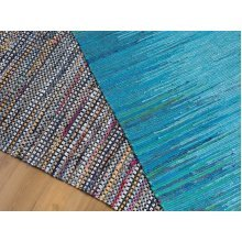 Rug - Carpet - Living Room Rug - Cotton - Blue - ALANYA