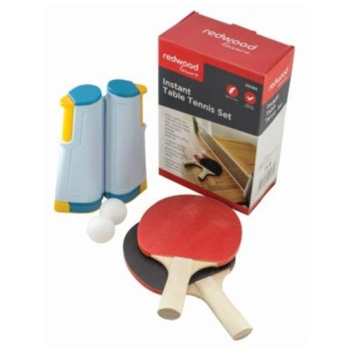 Instant Table Tennis Two Bats Balls & Extendable Net Ping Pong Travel Portable