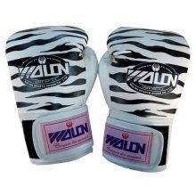 Tiger Stripes Adult Boxing Gloves Training Gloves BLACK WHITE, 10 Ounce