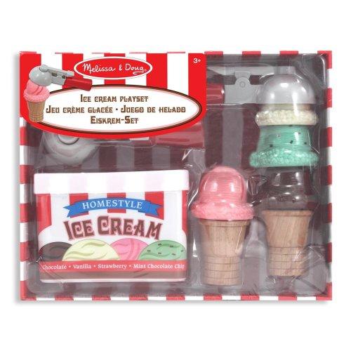 Melissa & Doug 14087 Scoop and Stack Ice Cream Cone Magnetic Pretend Play Set