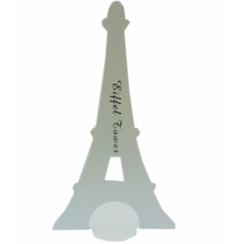Set of Two Paris Tower & London Tower Iron Tower Nonskid Bookends White