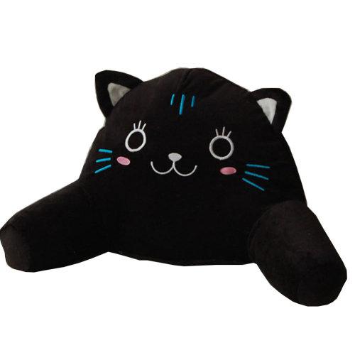 Cute Cartoon Multi-function Lumbar Support/Back Cushion,Black Cat