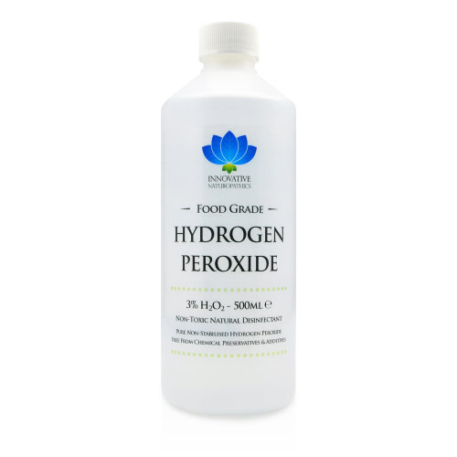 Hydrogen Peroxide 3% Food Grade - 1 Litre - Purest Grade H2O2 - Unstabilized and Additive Free - 10 Vols