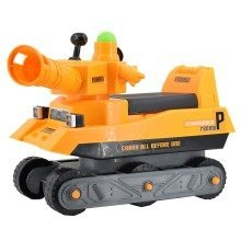 deAO Toddler Ride-On Cannon Shooting Tank - Comes With 3 Balls