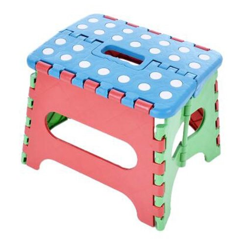 Creative Plastic Foldable Step Stool Portable Folding Stools Stepstool for Kids & Adults, No.12