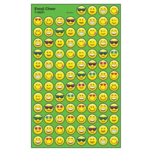 Trend Enterprises Emoji Cheer Super Spots Stickers (800 Piece)