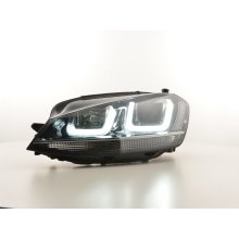 Daytime running lights headlight Daylight VW Golf 7 Year from 2012 black/chrome
