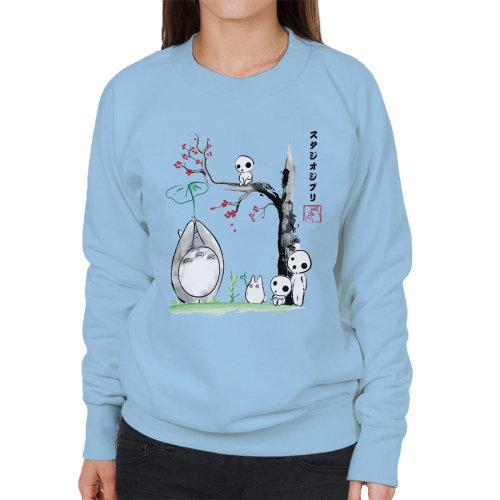 Studio Ghibli Growing Trees Sumie Totoro Women's Sweatshirt