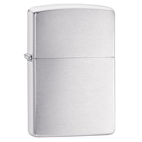 Engraved Zippo Lighter - Brushed Chrome - with Fade Free Engraving