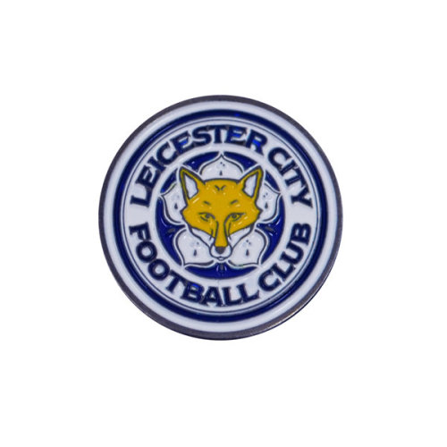 Leicester City F.c. Ball Marker Official Merchandise - Golf Fc Foot Sided -  ball leicester city marker golf fc football sided official double new