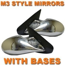 Chrome M3 Style Pair Manual Mirrors  Vw Lupo/arosa 98-05