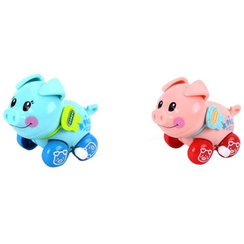 Set Of 2 Wind-up Toy Toy Pig Kids Educational Toy Lovely Toy Pig