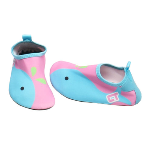 Children Sand Socks Water Skin Shoes Diving Socks,Pink Whale 19.1cm