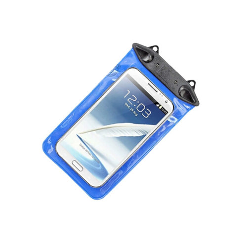 """5.5""""*3.7"""" Waterproof Underwater Swimming Diving Dry Bag Pouch, Blue"""