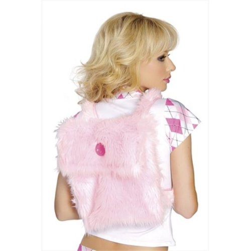 Roma Costume 14-BP4125-BP-O-S Synthetic Fur Back Pack- One Size - Baby Pink