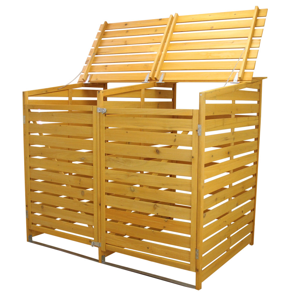 ... Double Wheelie Bin Store | Wooden Outdoor Bin Shed - 4 ...  sc 1 st  OnBuy & Double Wheelie Bin Store | Wooden Outdoor Bin Shed on OnBuy
