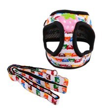 Nylon Material Pets Supplies Little Bear Printing Dogs Leash Collar, M Size