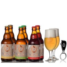 Van Bulck Organic Beer, Degustation Kit of 6 mix+ 2GL & bottel opener