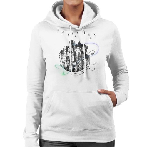 Minimalist City Women's Hooded Sweatshirt