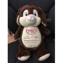Chocolate Bunny - Personalised With Name, Message or Birth Date