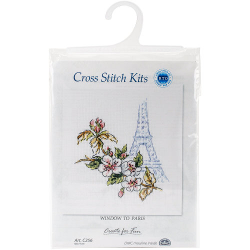 """Window To Paris Counted Cross Stitch Kit-3.75""""X4.25"""" 16 Count"""