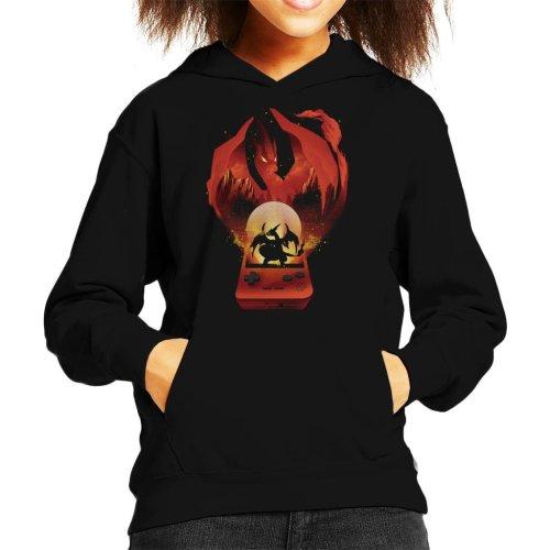 Pokemon Red Montage Kid's Hooded Sweatshirt