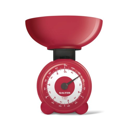 Salter Orb Mechanical Kitchen Scales - Fast Accurate Reliable - Red
