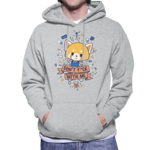 Dont Fck With Me Aggretsuko Men's Hooded Sweatshirt