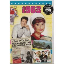 55th Emerald Wedding Anniversary gift ~ Reminisce 1963 with DVD and Greeting Card