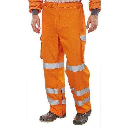 "Click CARC52OR30 ARC Compliant GO/RT Flame Retardant Hi Vis Orange Trousers 30"" Regular"