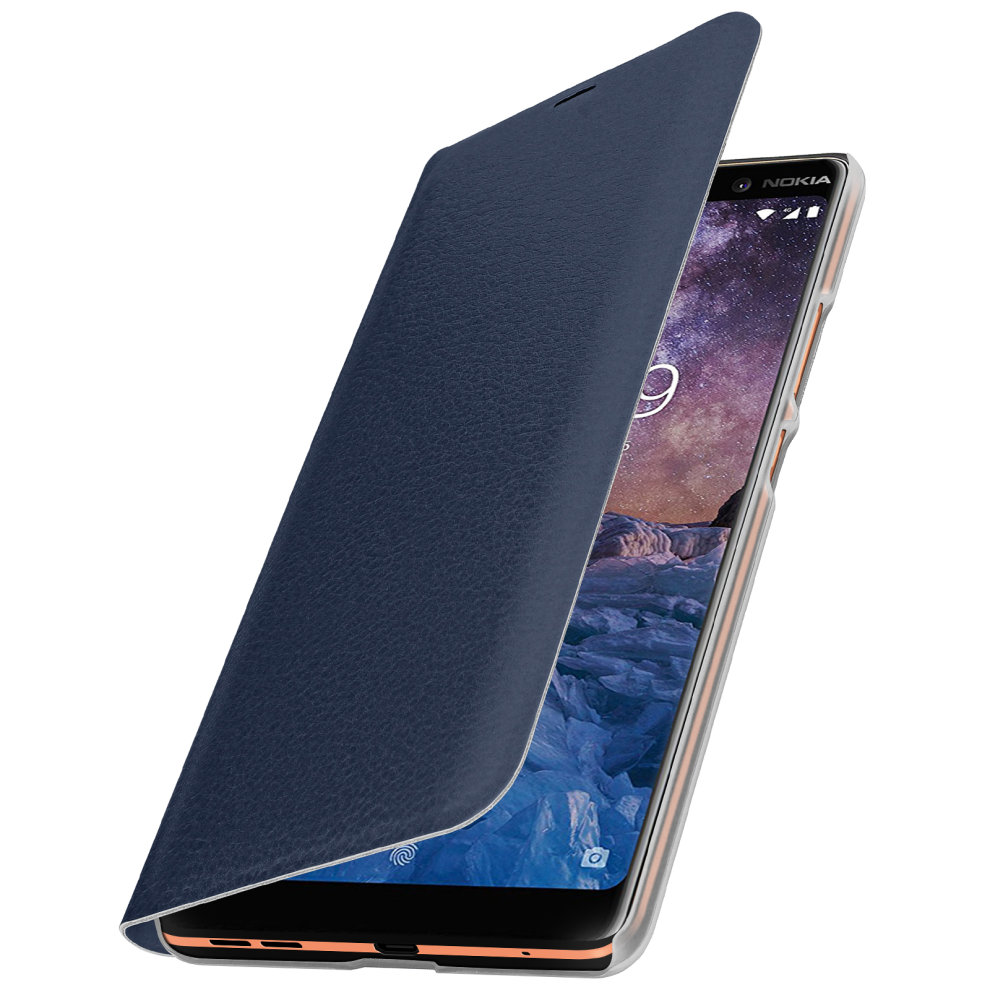 buy popular 42eae 0be70 Flip Book cover, wallet case with stand for Nokia 7 Plus - Darkblue