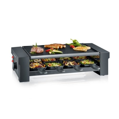 Severin RG 2687 Pizza Raclette Grill 1150 W, Non-stick turning plate