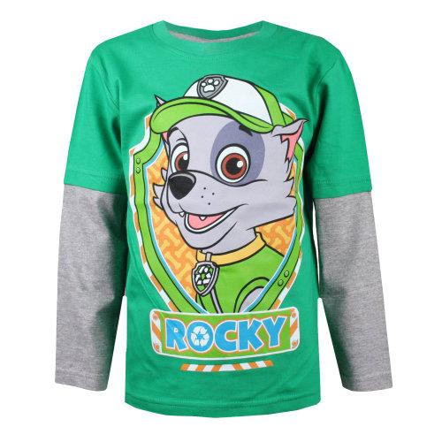 fb61681a57da Paw Patrol Rocky Shield L/S T-shirt Green/Grey on OnBuy