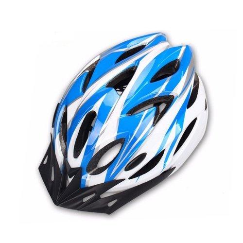 Hoovo Bicycle Helmet With Adjustable Lightweight Mountain Bike Racing Helmet for Men and Women (Blue)