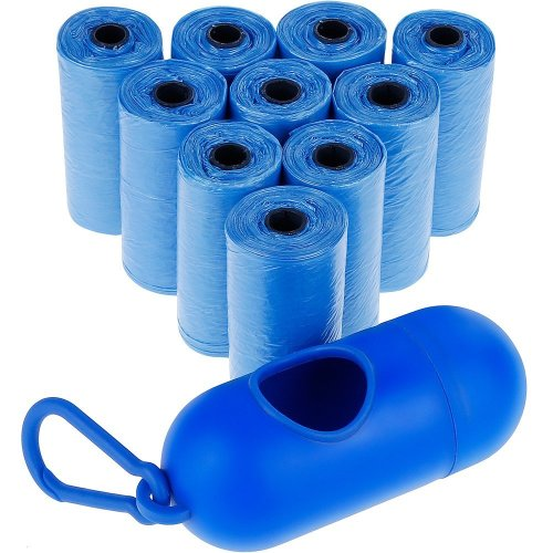Zacro Dog Waste Bags - Dog Poo Bag with 10 Rolls / 150 Count, Creative Practical Leak-Proof Dog Poop Bags, Included Dispenser with Lead Clip - Easy...